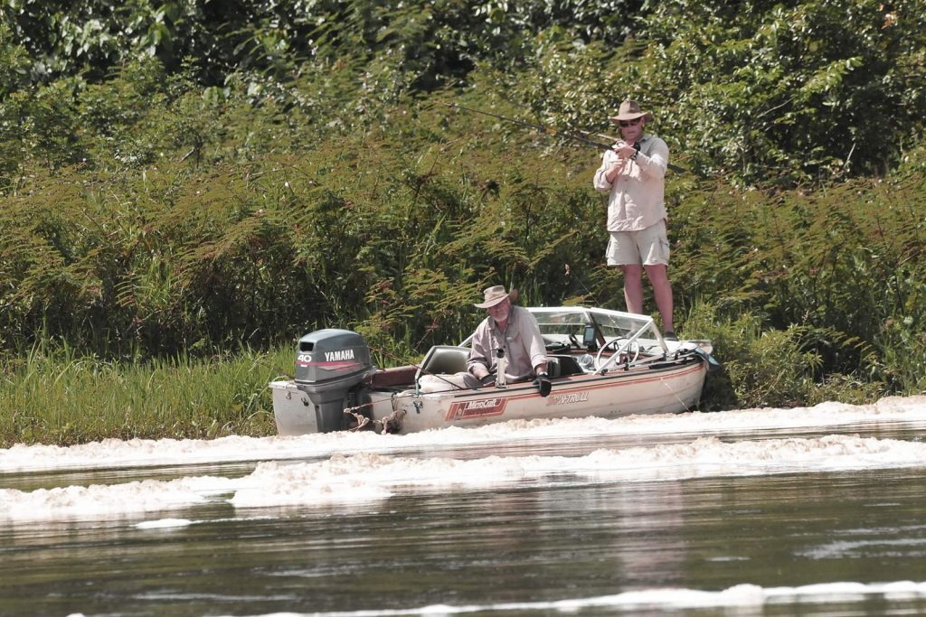 Fishing in murchison Falls in the nile